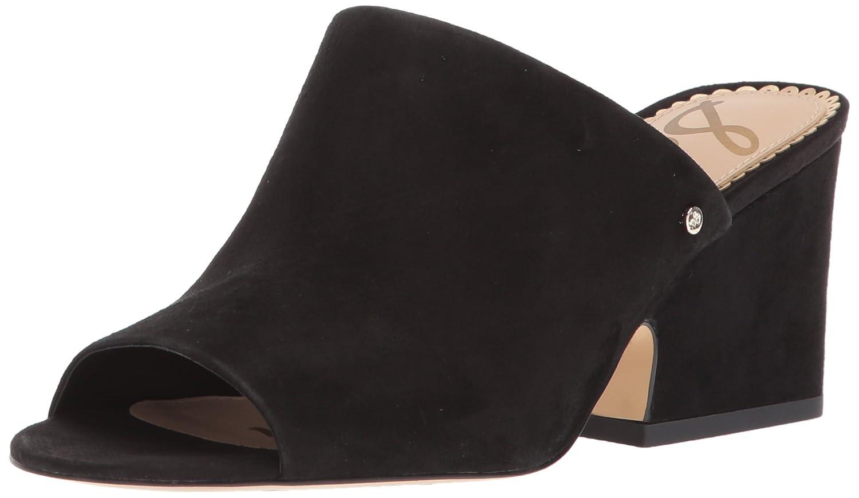 Sam Edelman Women's Rheta Wedge Sandal B072KST1P3 8.5 B(M) US|Black Suede