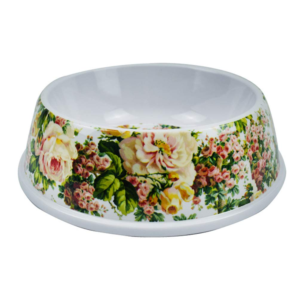 Dog Bowl Print Flower Pet Supplies Cat Dog Feeder Pet Bowl Dog Food Bowl Light Weight Go Out Household color,Green,S