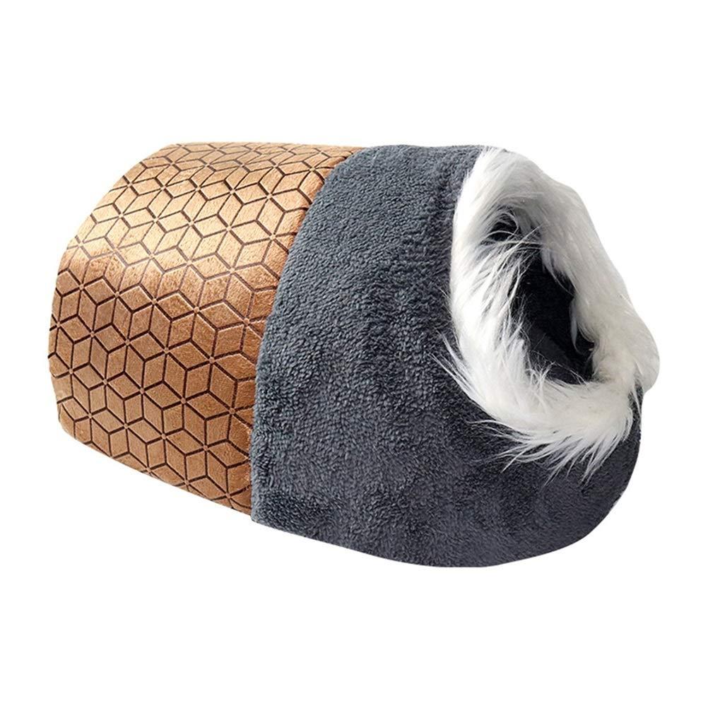 L Soft and Comfortable Winter Cat Toilet Warm Pet Bed Teddy Dog House Kitten House Cat mat cat mat Cat's Home Supplies (Size   L)
