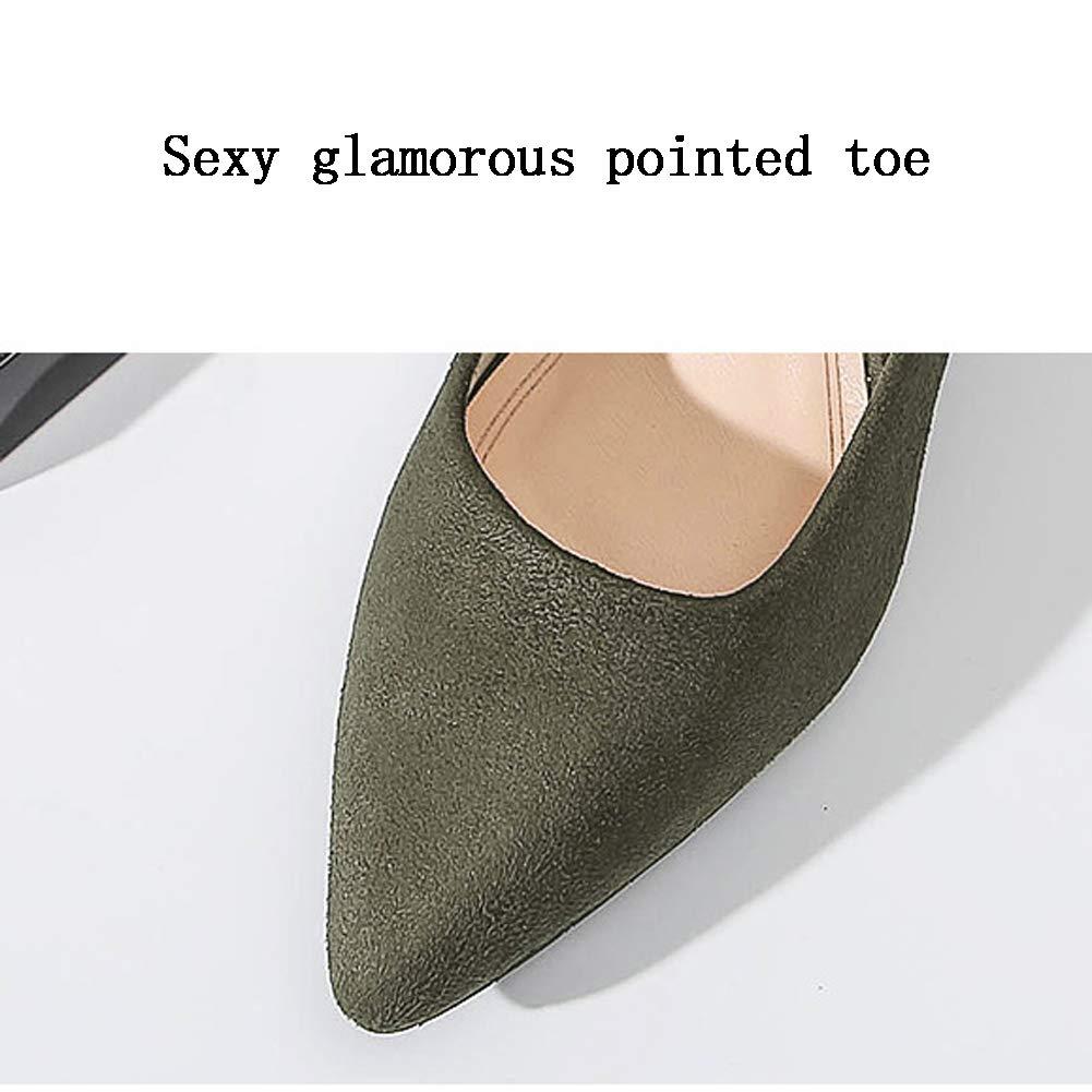 HLG Frauen Frauen Frauen geschlossene Zehe Fersen Mikrofaser Stoff zeigte feste Farbe flachen Mund Gericht Schuhe Hochzeit Schuhe c89b88
