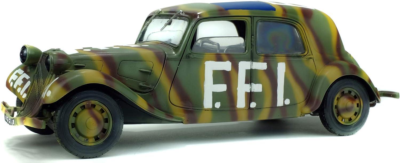 Citroen 15Cv Military Ffi 1944 Camouflage SOLIDO 1:18 SL1800902