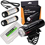 Cheap EdisonBright Fenix BC21R 880 lumen Cree LED USB rechargeable Bike Bicycle Light, 2 X rechargeable 18650 batteries with BBX3 battery carry case bundle