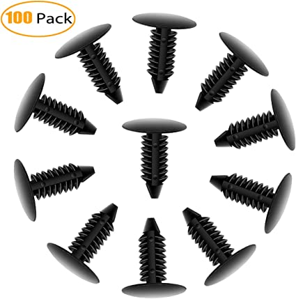 Dophee 50 Pcs 6mm Hole Car Push Type Plastic Rivet Trim Panel Fastener Clips for Toyota