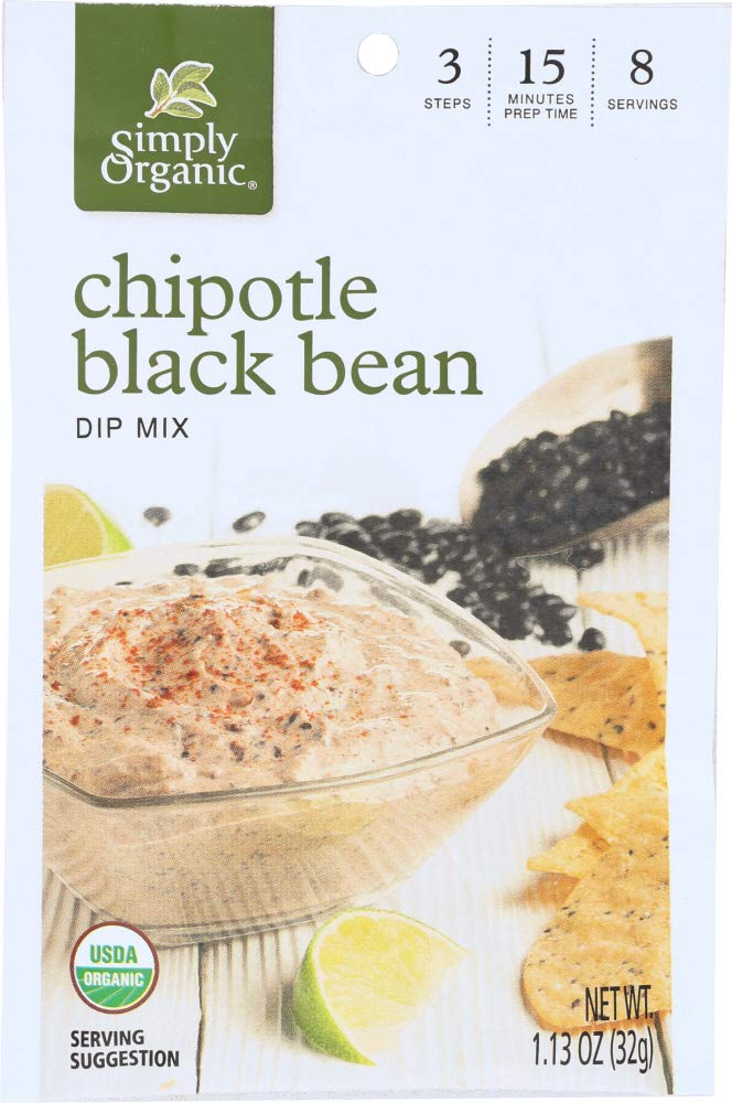 Simply Organic (1 Item ONLY) Chipotle Black Bean Dip Mix