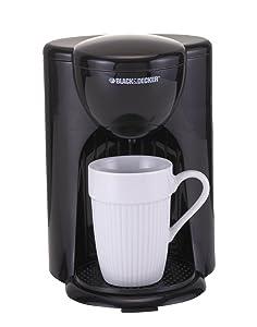 Black & Decker DCM25 1 Cup Coffee Maker, Black, 220V (Not for USA)