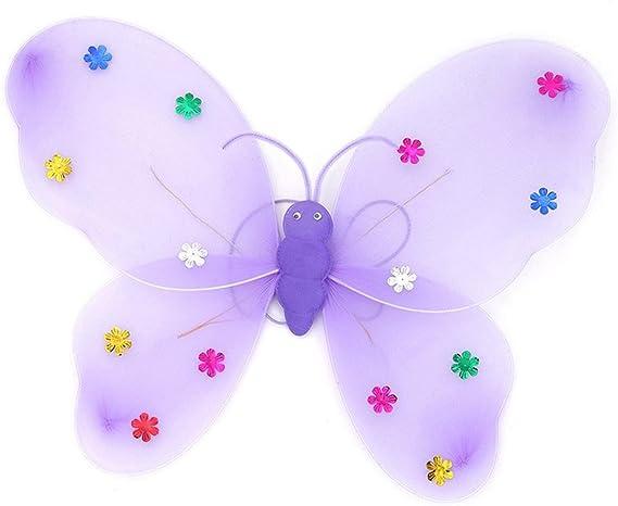 startview 3pcs/set niñas LED luz intermitente hada mariposa ala ...