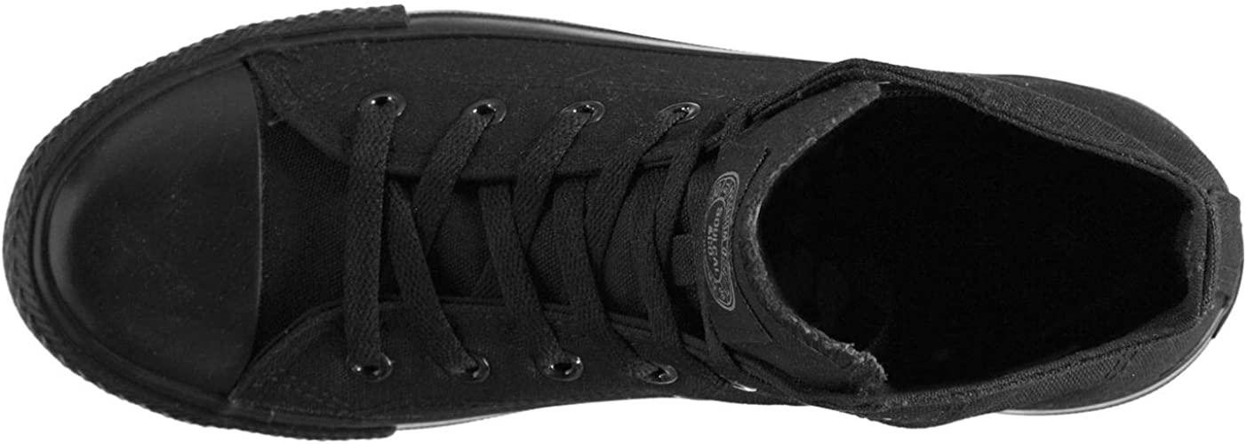 Mens SoulCal Footwear Lace Cushioned Canvas High Top Trainers Sizes from 6 to 13