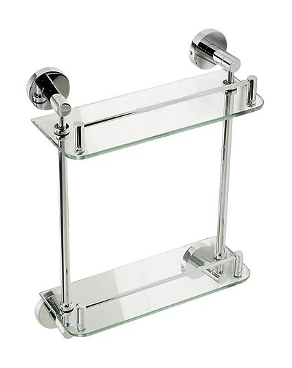 Amazoncom Alfi Brand Ab9549 Wall Mounted Double Glass Shower Shelf