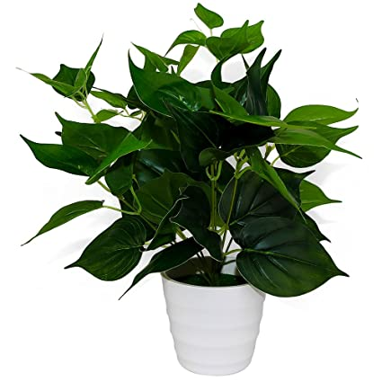 SunAngel Artificial Plants, Epipremnum Aureus Leaves Silk Grass Fake Plants  Bridal Home Garden Office Floor