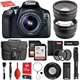 Canon EOS Rebel T6 Digital SLR Camera with 18-55mm EF-S f/3.5-5.6 IS II Including Complete Accessory Bundle + Wide Angle + 2X Telephoto Lens + UV Filter Kit + Tripod + Flash + 48GB SD Memory Card