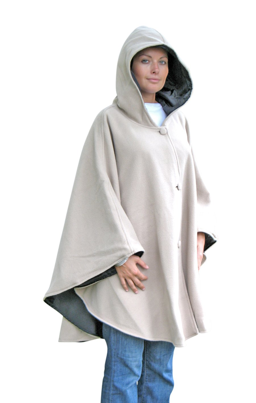 REVERSIBLE HOODED CAPE PONCHO Objets du Mois