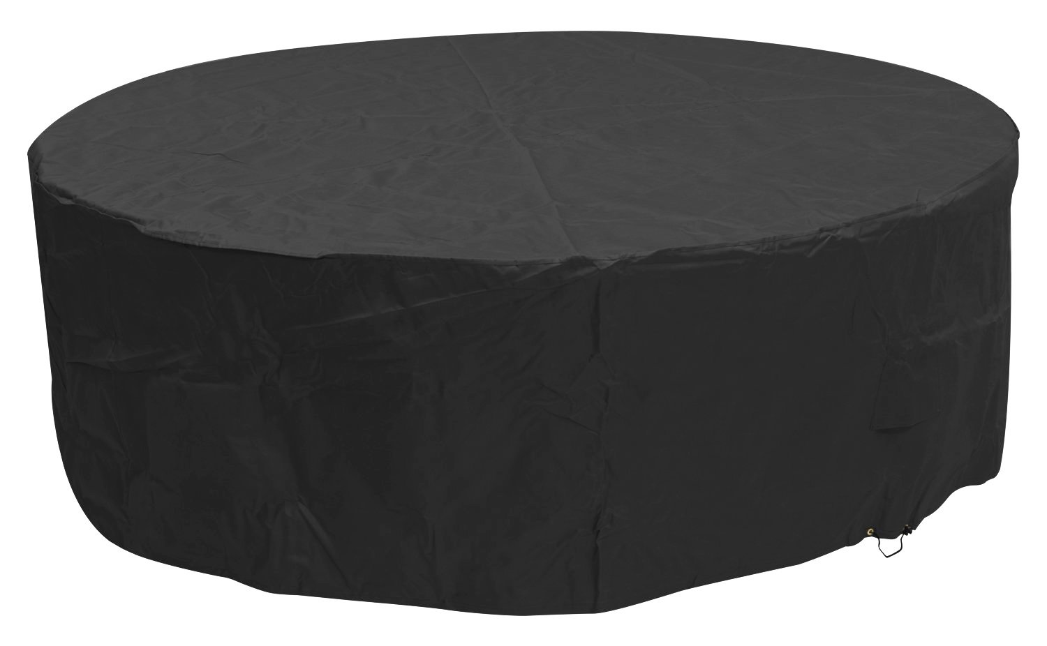 Woodside Black 6-8 Seater Round Outdoor Garden Patio Furniture Set Cover 0.8m x 2.52m / 2.6ft x 8.3ft 5 YEAR GUARANTEE