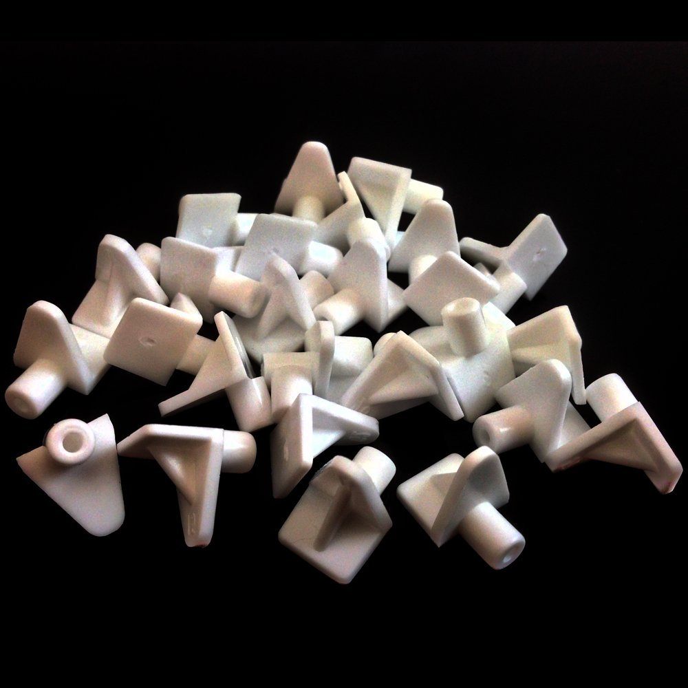 pack of 24 ONLY £1.60 POST FREE Shelf support plug in white plastic 5mm peg