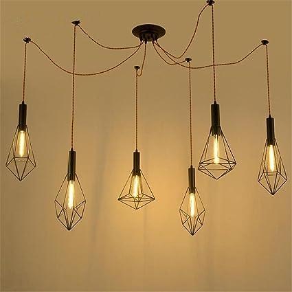 Atmko®Iluminación colgante Lámparas de araña Cuerda de ...