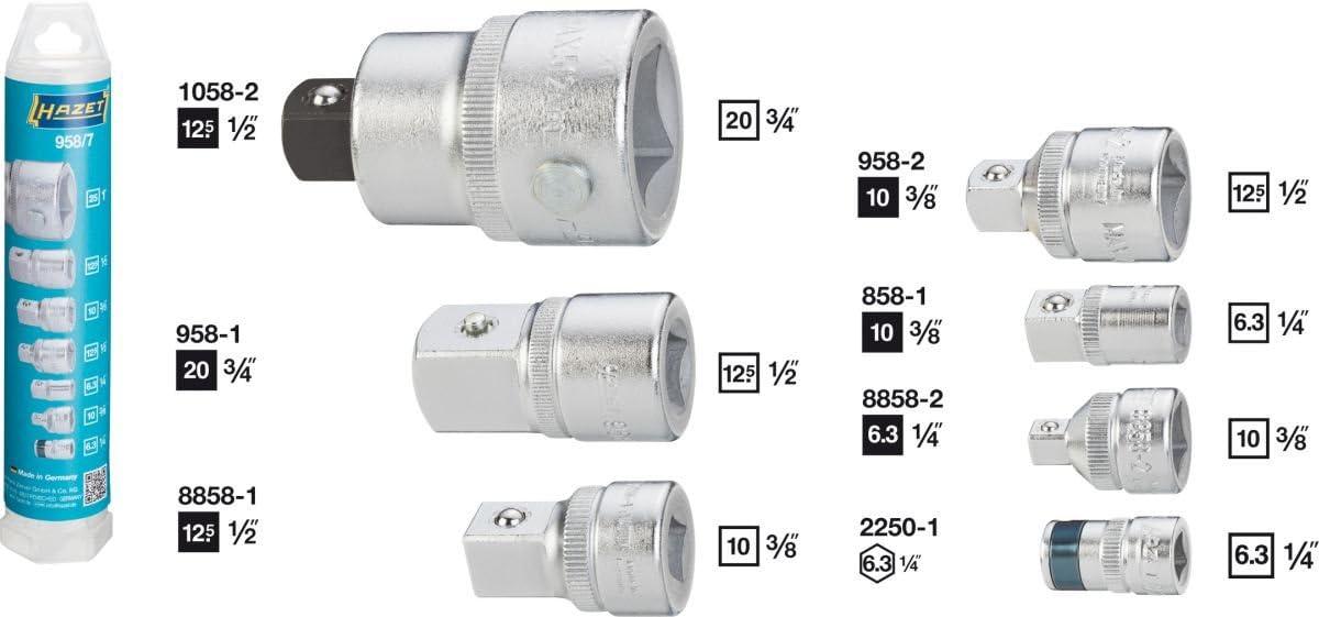 Hazet 958//7 Adapter Set