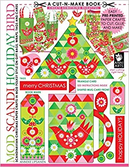 graphic relating to Christmas Printable Paper titled Mod Scandi Family vacation Chook Minimize-n-Crank out E book: Scandinavian