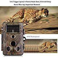 Wildlife Hunting Camera 12MP 1080P HD 2.4'' LCD Infrared Night Vision DR1006A IP66 Waterproof Trail Camera 120°Wide Angle With 42Pcs LED lights