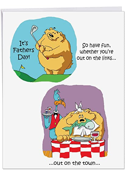 Amazoncom Humorous 85 X 11 Inch Fathers Day Card With Envelope