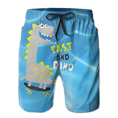 13541542db Weeben Summer Beach Shorts for Men, Little Dinosaur Quick Dry Beach Pants  with Pockets