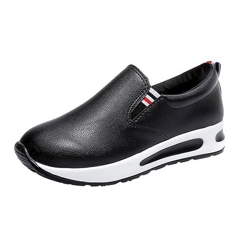 sitio autorizado bastante baratas calidad primero Zapatillas de Cuero para Mujer Otoño 2018 PAOLIAN Zapatos de Plataforma  Dama Casual Cómodo Moda Señora Senderismo Calzado de Trabajo Aire Libre y  ...