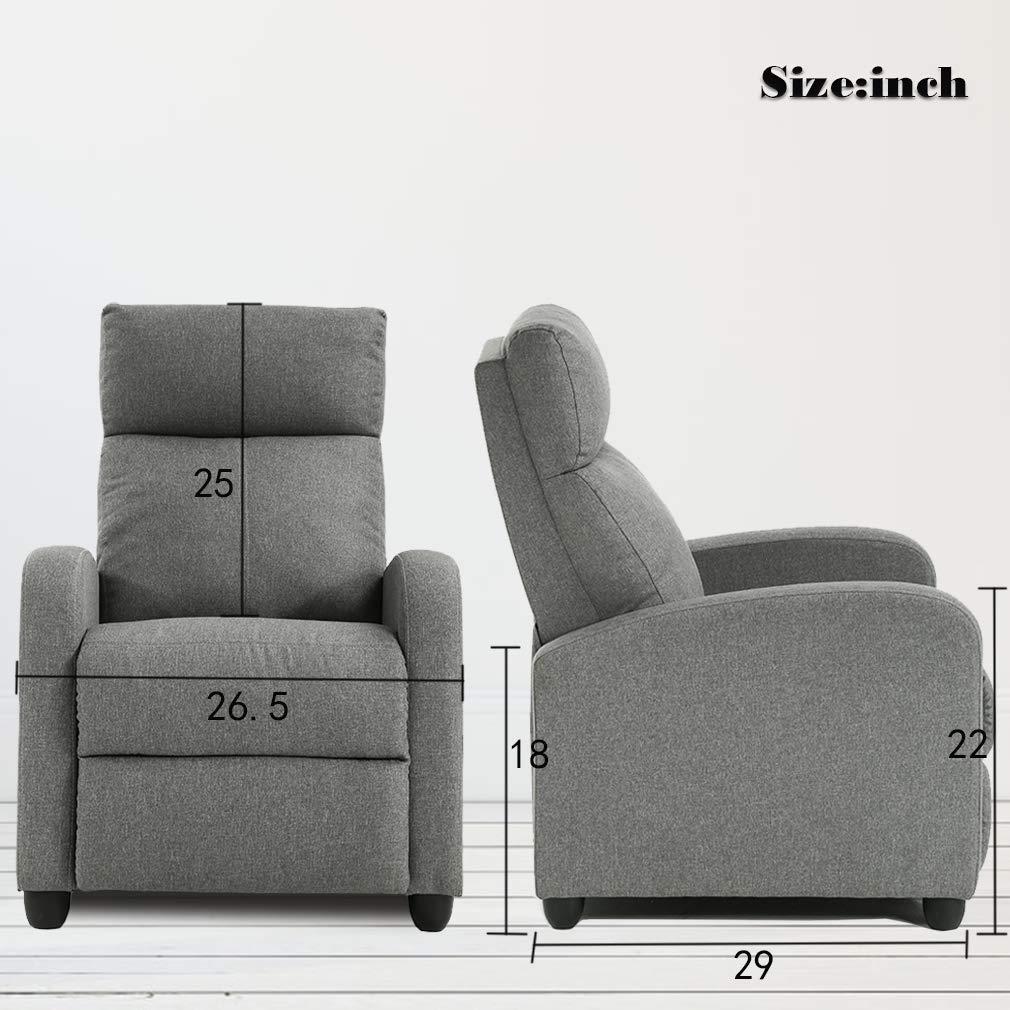 FDW - Silla reclinable de Piel con Respaldo de ala, sofá ...