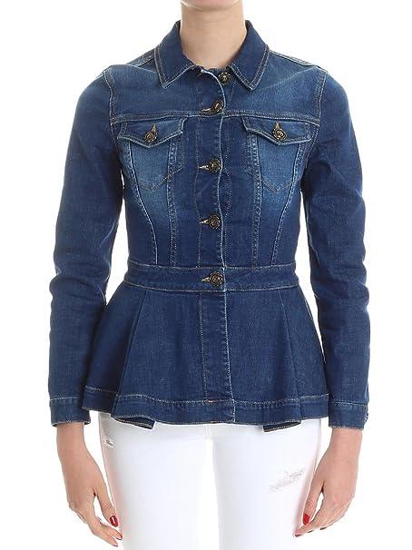 Elisabetta Franchi Giacca Jeans: Amazon.it: Abbigliamento