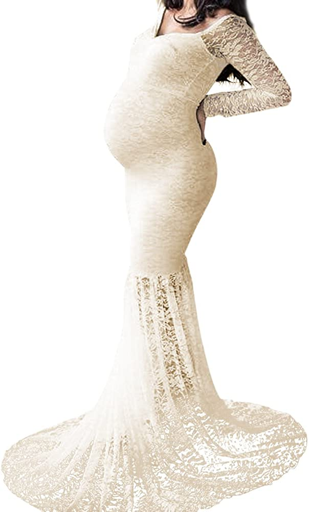 Mermaid Maternity Dresses for Photo Shoot Pregnant WomenPregnancy DressPhotography Off ShoulderMaxi Maternity Gown