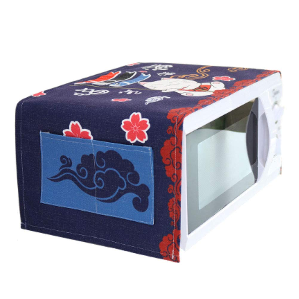 LUNA Japanese Style Microwave Oven Dustproof Cover for Home Decor (A6)