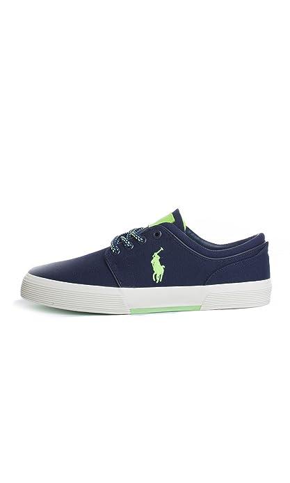 Polo Ralph Lauren Y2054 FAXON zapatos azul marino hombre ata las zapatillas de deporte de la tela 41: Amazon.es: Zapatos y complementos