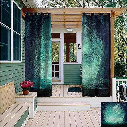 Beihai1Sun Outdoor Blackout Curtain,Halloween Spooky Forest Halloween,Energy Efficient, Room Darkening,W84x108L]()