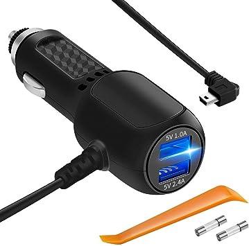 Carga USB Cargador Cable Lead Para Cargador De Coche Navegación Garmin GPS 200 Edge