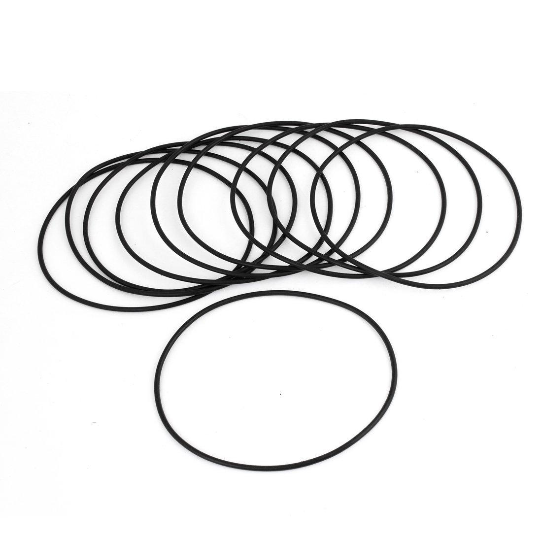 Lot de 10 é querres de 100 mm de diamè tre exté rieur 2 mm d'é paisseur et joints caoutchouc toriques Noir Amico a13090700ux0027