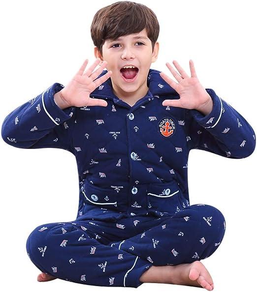 Pijamas dos piezas Pijama Chicos de algodón de Invierno Acolchados ...