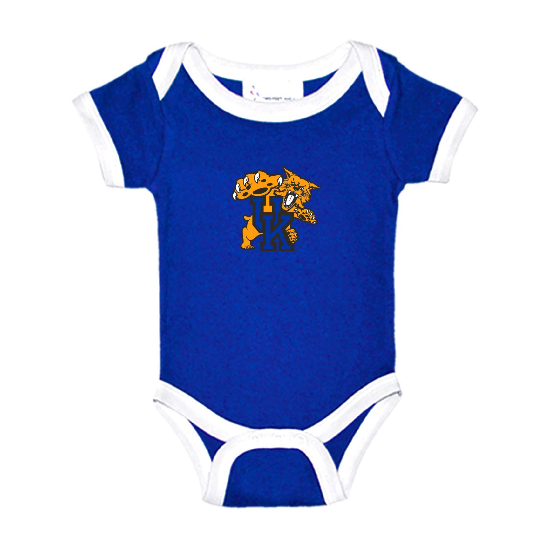 Kentucky Wildcats Two Tone NCAA College Newborn Infant Baby Creeper