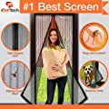 "Magnetic Screen Door, Full Frame Velcro. Fits Door Openings up to 34""x82"" MAX by iGotTech"