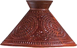 Irvins Country Tinware Betsy Ross Shade with Chisel in Rustic Tin