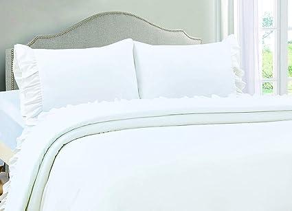 3492cfc206 Amazon.com: 4 Pc Ruffle Sheet Set 400 Thread Count Egyptian Cotton ...