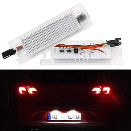 GOFORJUMP 2pcs Car-Styling LED Luces de la Placa de la Licencia para V/