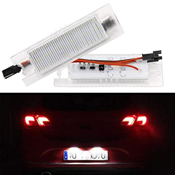 GOFORJUMP 2pcs Car-Styling LED Luces de la Placa de la Licencia para V/