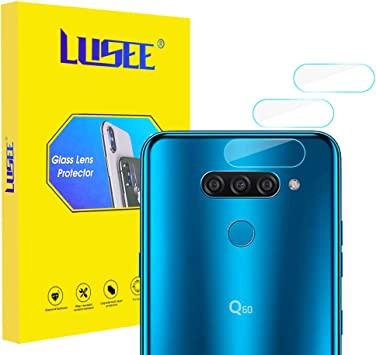 Lusee 2 x Pack Protector de Lente Cámara para LG Q60 6.29 Pulgada Cámara Trasera Pantalla Cristal Vidrio Templado: Amazon.es: Electrónica