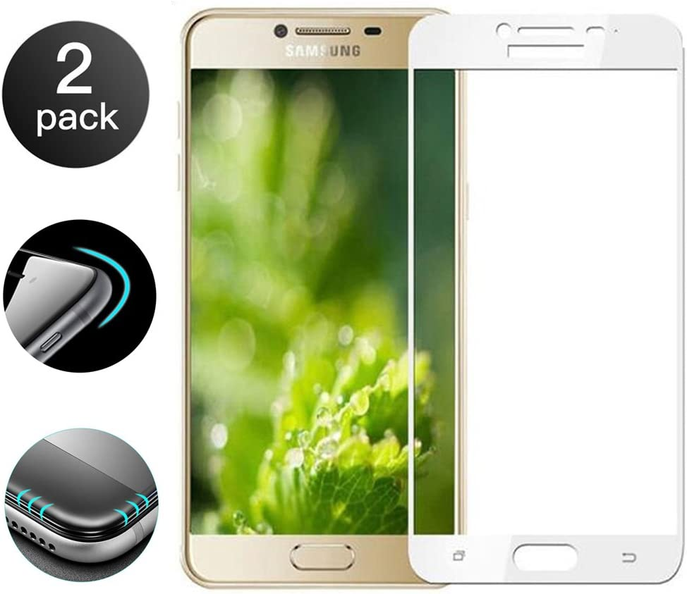 2 Unidades]Samsung Galaxy C9 PRO Protector de Pantalla[Cobertura Completa], Samsung Galaxy C9 PRO Cristal Vidrio Templado 9H Tempered Glass Screen Protector para Samsung Galaxy C9 PRO: Amazon.es: Electrónica