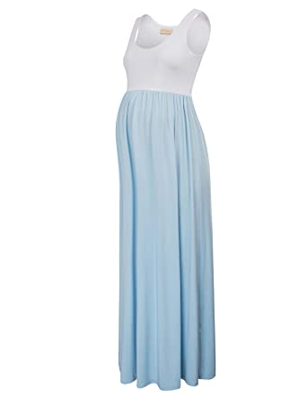 dfd666903813d Kate Kasin Women's Pregnancy Contrast High Waist Long Tank Dress S KK676-3