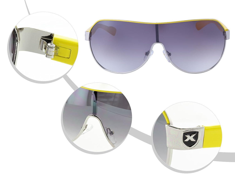 LOOX Sonnenbrille Gelb große Gläser Herren Damen Pilotenbrille Modell 103 Rio d1J0nh