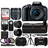 Canon EOS Rebel T7i DSLR Camera + EF-S 18-55mm f/4-5.6 IS STM Lens + 32GB Memory Card + 58mm 2X Telephoto & Wide Angle Lens + DC59 Gadget Bag + Quality Tripod + Wireless Remote + Filter Kit + More