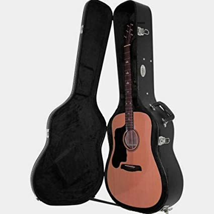 Electroacoustic carcasa rígida de guitarra acústica con funda para ...
