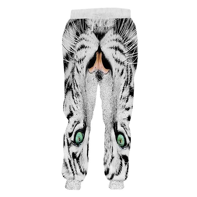 Pantalones de chándal para Hombre, diseño de Rayas, Color Blanco y ...