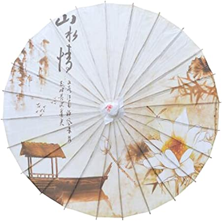 Chinese Japanese Style Paper Umbrella Parasol 33 Inch Landscape Umbrellas Amazon Canada