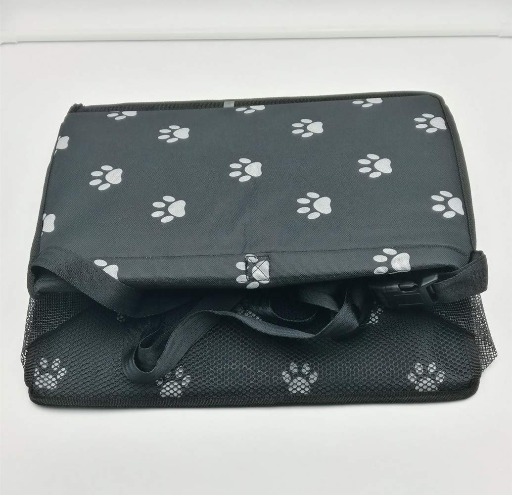 Portable Foldable Travel Carrier Bags With Clip-On Safety Leash Black white Thick And Comfortable Oxford Cloth Car Mat Booster For Small Dogs And Cats. AI-LAFU Pet Car Bag