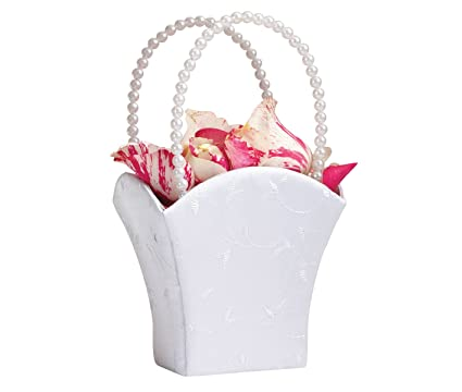 Amazon lillian rose elegant wedding flower girl basket white lillian rose elegant wedding flower girl basket white mightylinksfo