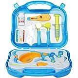 Valigetta Dottore Bambini Kit Infermiere Medico Gioco Giochi di Ruolo Giocattolo per Bambino Toddlers Rosa 3 Anni 12 Pezzi